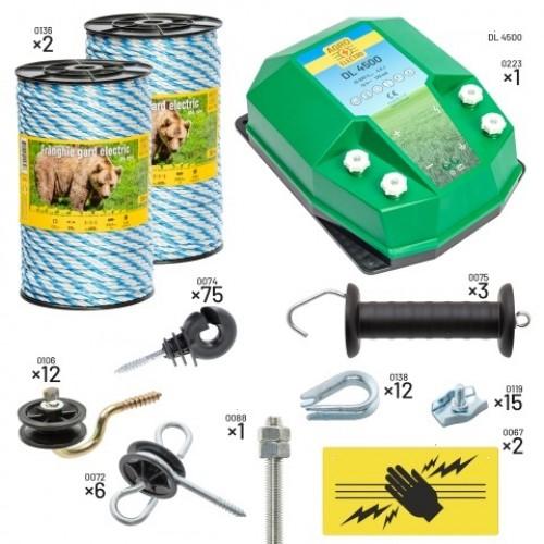Пълен/професионален комплект електропастир за мечки – DL-4.5 J 400 m с якост на опъна 590 kg