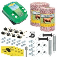 Пълен/професионален комплект електропастир за дом.животни - DL-4.5 J 1500 m с якост на опъна 95 kg