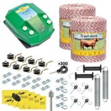 Пълен/професионален комплект електропастир за дом.животни - DL-4.5 J 2000 m с якост на опъна 95 kg