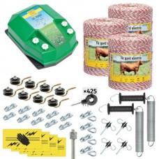Пълен/професионален комплект електропастир за дом.животни - DL-7.2 J 3000 m с якост на опъна 95 kg