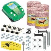 Пълен/професионален комплект електропастир за дом.животни - DL-7.2 J 4000 m с якост на опъна 95 kg