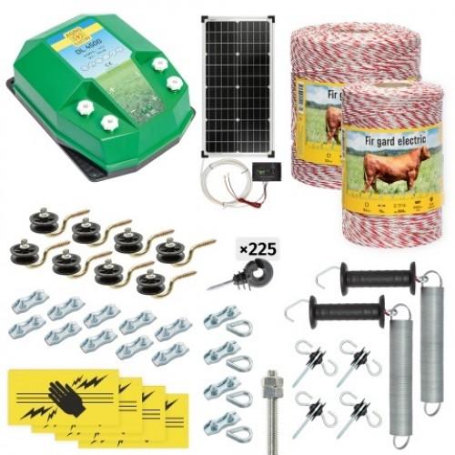 Пълен/професионален комплект електропастир - DL-4.5 J 1500 m с якост на опъна 95 kg с 30W соларен панел