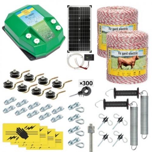 Пълен/професионален комплект електропастир - DL-4.5 J 2000 m с якост на опъна 95 kg с 40W соларен панел