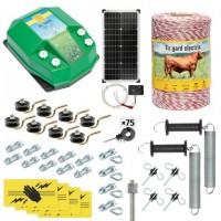 Пълен/професионален комплект електропастир - DL-3.2 J 500 m с якост на опъна 95 kg с 40W соларен панел