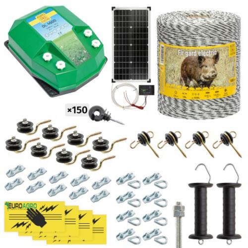 Комплект електропастир – DL - 4.5 J – 1000 m с якост на опъна 130 kg с 40W соларен панел