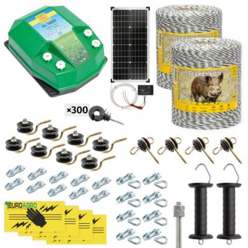 Комплект електропастир – DL - 4.5 J – 2000 m с якост на опъна 130 kg с 30W соларен панел