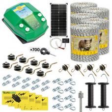 Комплект електропастир – DL - 7.2 J – 5000 m с якост на опъна 130 kg с 30W соларен панел