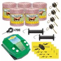 Пълен/професионален комплект електропастир за дом.животни - DL-7.2 J 5000 m с якост на опъна 95 kg