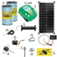 Пълен/професионален комплект електропастир за мечки – DL-4.5 J 400 m с якост на опъна 590 kg с 30W соларен панел