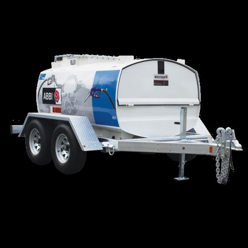 Ремарке с цистерна за дизелово гориво с колонка - 1500L/160L