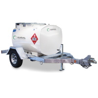 Ремарке с цистерна за дизелово гориво с колонка - 985L