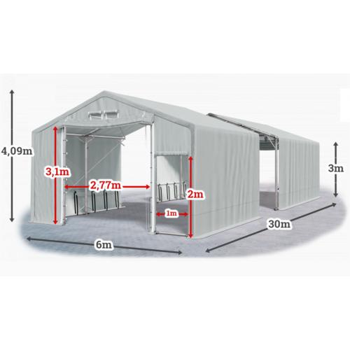 Мобилно хале с размери 6 x 30 x 3 m / 4.09 m - Euroagro
