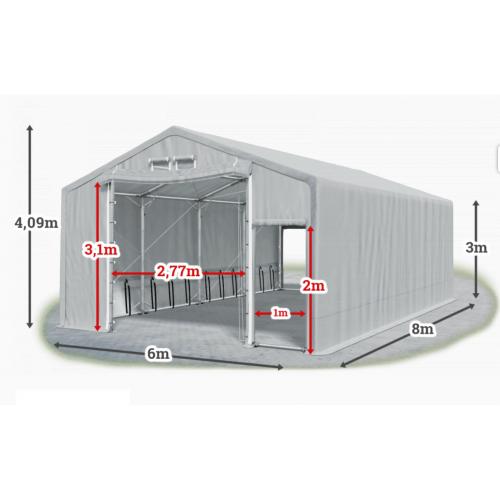 Мобилно хале с размери 6 x 8 x 3 m / 4.09 m - Euroagro