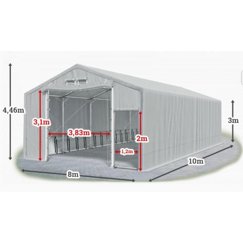 Мобилно хале с размери 8 x 10 x 3 m / 4.46 m - Euroagro