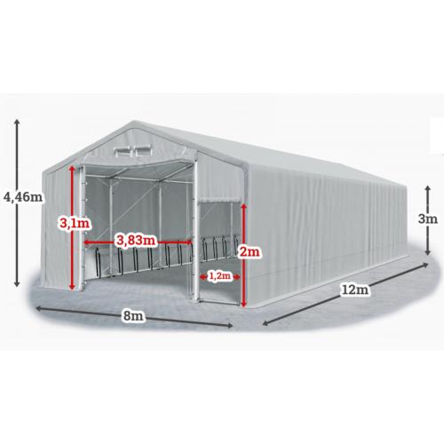Мобилно хале с размери 8 x 12 x 3 m / 4.46 m - Euroagro
