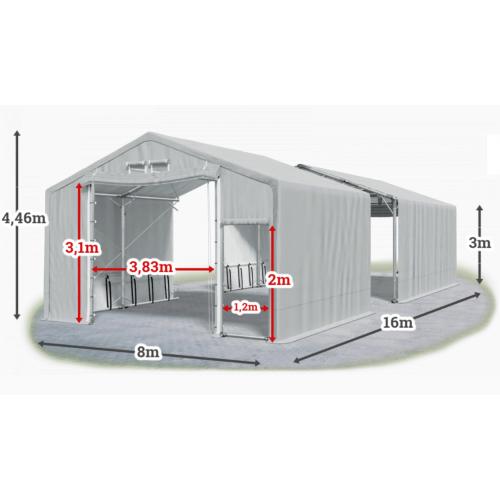 Мобилно хале с размери 8 x 16 x 3 m / 4.46 m - Euroagro