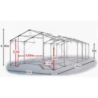 Мобилно хале с размери 8 x 30 x 3 m / 4.46 m - Euroagro