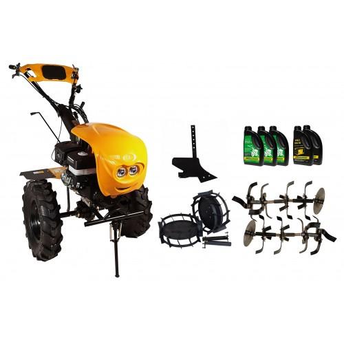 Комплект бензинова мотофреза, с диф., 18 к.с., с комплект колела, единичен плуг, моторно и трансмисионно масло