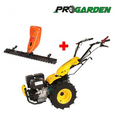 Комплект професионален многофункционален култиватор ProGARDEN BT 330/G190 + косачка за трева ProGarden 120cm