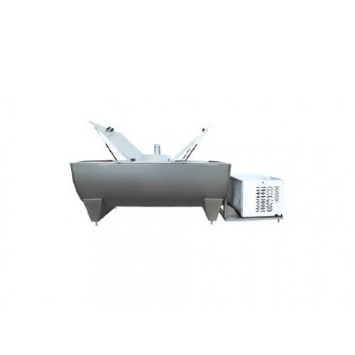 Хоризонтален полукръгъл резервоар за охлаждане на мляко - от 500 до 6000 литра