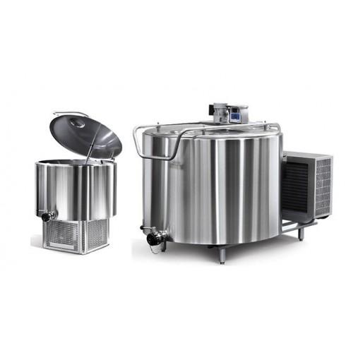 Вертикален резервоар за охлаждане на мляко със стандартно охлаждане - 500 / 1000 / 1500 / 2000 литра