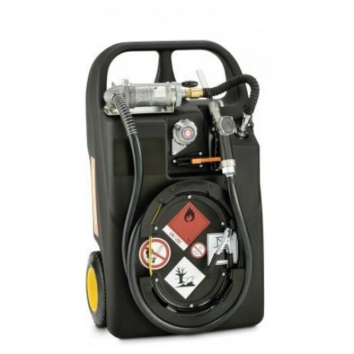 HD-PE Мобилен резервоар за бензин с колонка - ръчен, 60L