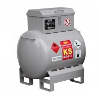 Мобилен резервоар за гориво CEMO KS-Mobil 200L, с ръчна помпа 25L/min