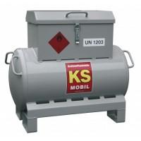 Мобилен резервоар за гориво CEMO KS-Mobil 90L, с ръчна помпа 25L/min