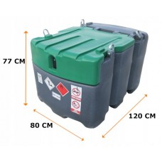 Мобилен резервоар за гориво с колонка и разходомер JFC - 425l.