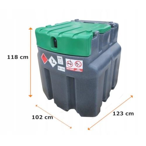 Мобилен резервоар за гориво с колонка без разходомер JFC - 950l.