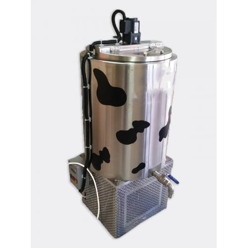 Вертикален резервоар за охлаждане на мляко с долно охлаждане - 125 / 150 / 200 / 300 литра