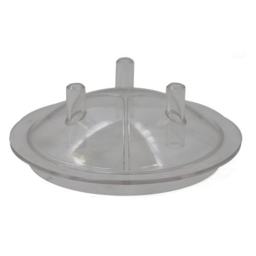 Прозрачен капак за гюм 30L на доилен агрегат с 3 изхода