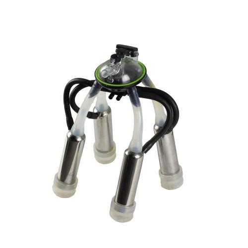 Корпус на колектор за доилен агрегат с 240 кубика в комплект с 4 силиконови ръкави и чаши от неръждаема стомана