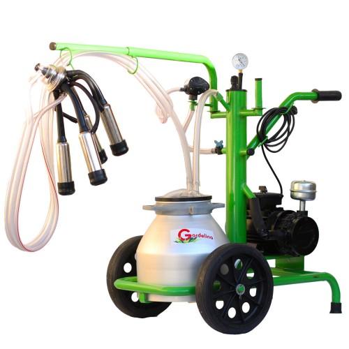Агрегат за доене на крави Gardelina 120 с алуминиев гюм  20L