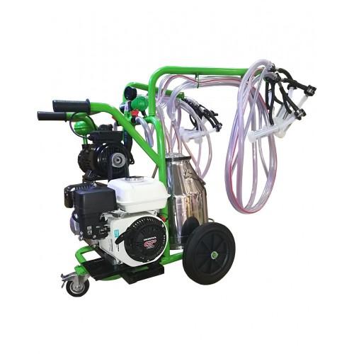 Бензинов агрегат за доене на 2 бр. овце или кози с двигател Honda с иноксов гюм 30L T230