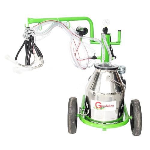 Доилен агрегат за кози и овце GREEN LINE 130 IN с иноксов гюм 30L