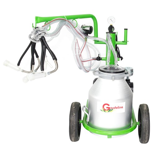 Доилен агрегат за кози и овце GREEN LINE T130 AL с алуминиев гюм 30L