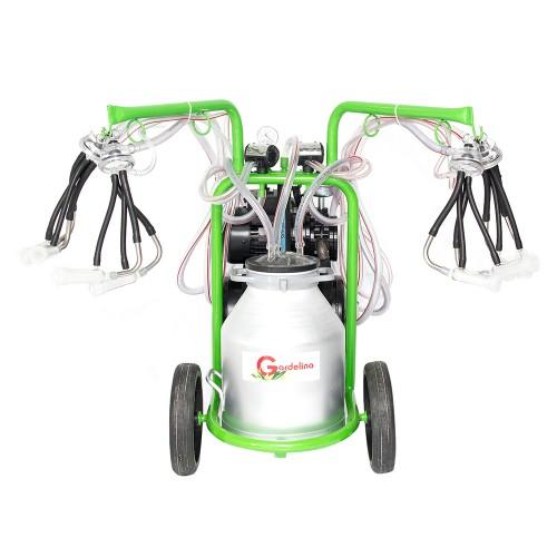 Aгрегат за доене на 2 бр. кози или овце с алуминиев гюм 30L GREEN LINE T230
