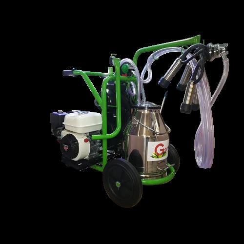 Бензинов доилен агрегат за крави с двигател Honda с иноксов гюм 30L  Gardelina T130