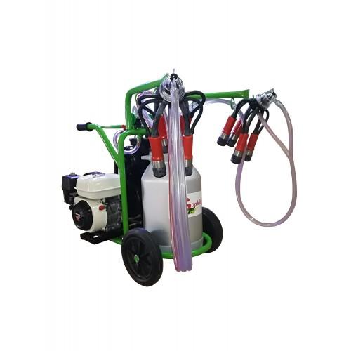 Бензинов доилен агрегат за крави Gardelina T240 с алуминиев гюм 40L