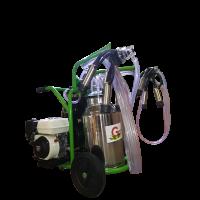 Бензинов доилен агрегат за крави с двигател Honda с иноксов гюм 40L Gardelina T240 IN