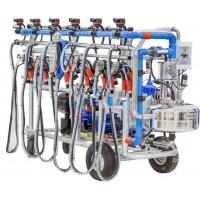 Доилен агрегат за крави, за до 6 крави едновременно, с пневматични бутони