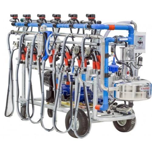 Доилен агрегат за крави, за до 6 крави едновременно, с електрически бутони