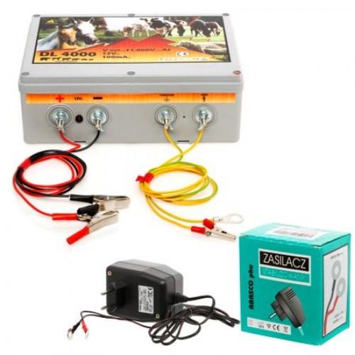 Енергизатор за електропастир DL 4000 с адаптер за захранване