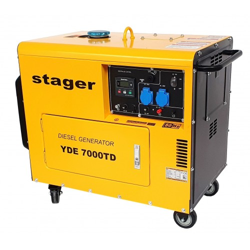 Монофазен дизелов генератор, звукоизолиращ - Stager 4.2kVA, 18A, 3000rpm