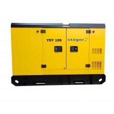Монофазен дизелов генератор, звукоизолиращ - Stager YDY10S 8.6kVA, 37A, 1500rpm