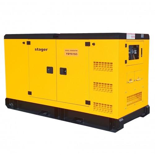 Трифазен дизелов генератор, звукоизолиращ - Stager YDY61S3 55kVA, 79A, 1500rpm