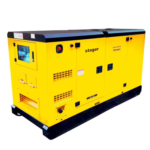 Трифазен дизелов генератор, звукоизолиращ - Stager YDY89S3 80kVA, 115A, 1500rpm