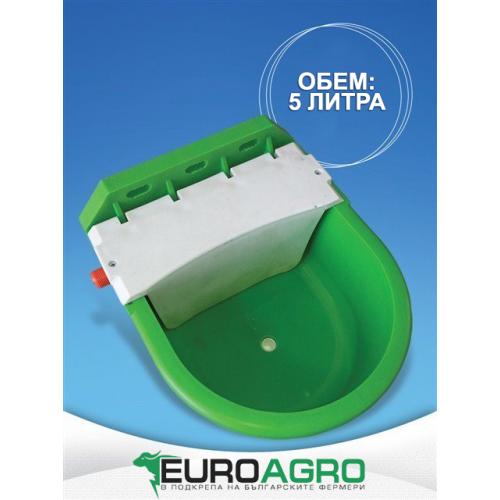Пластмасова поилка с поплавък - 5 литра