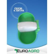 Пластмасова двустранна поилка - 4 литра